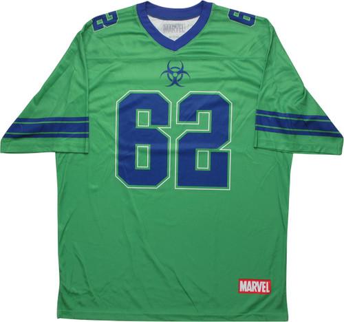 Incredible Hulk 62 Biohazard Logo Football Jersey