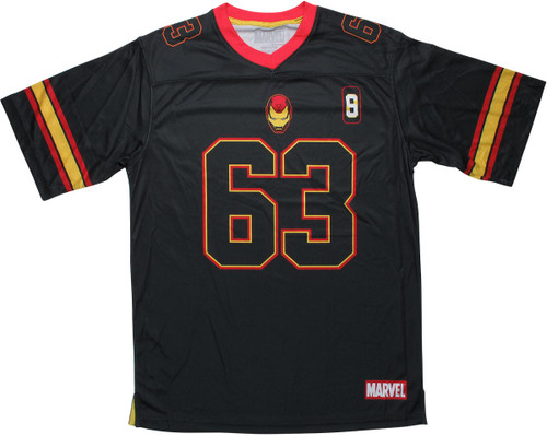 Iron Man 63 Black Football Jersey