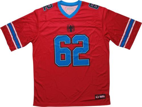 Spiderman 62 Spidey Red Football Jersey