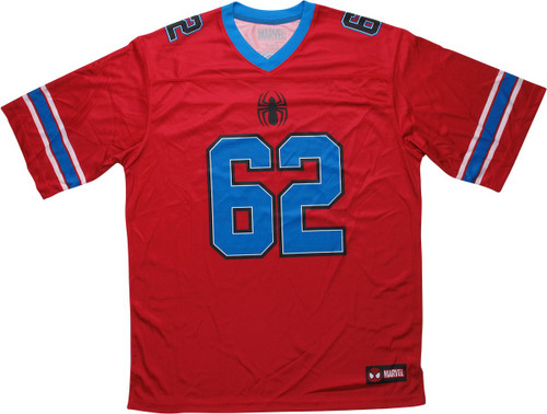 Spiderman 62 Spidey Red Football Jersey