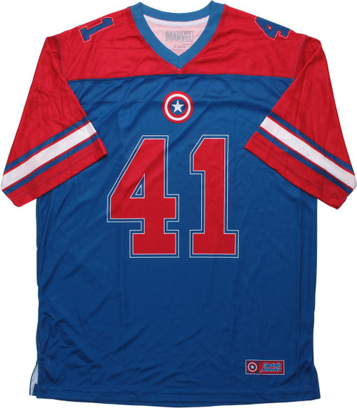 Captain America 41 Super Soldier Football Jersey