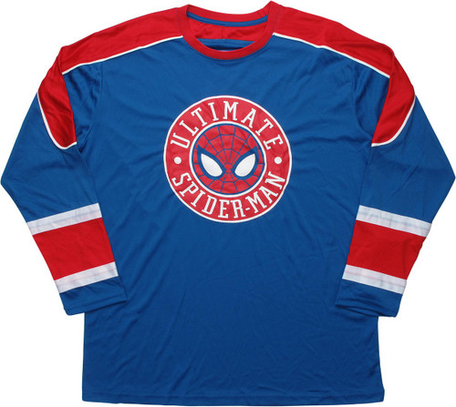 Ultimate Spiderman Blue and Red Hockey Jersey