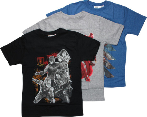 Justice League Movie 3-Pack Youth T-Shirt