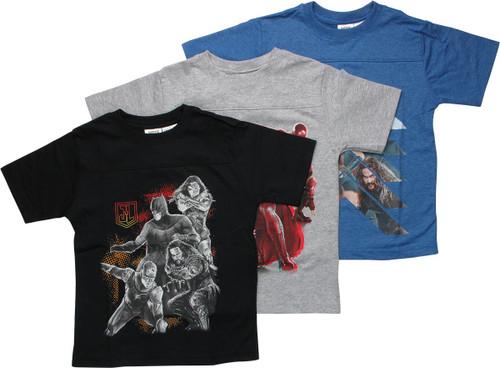 Justice League Movie 3-Pack Juvenile T-Shirt
