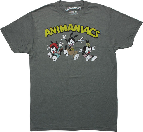 Animaniacs Group Jumping Distressed T-Shirt