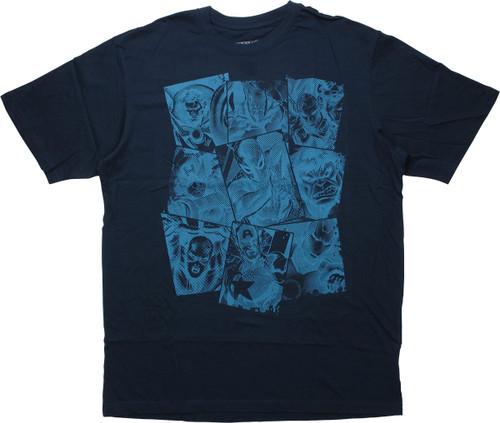 Avengers Squares Navy Blue T-Shirt