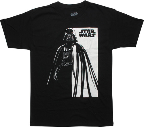 Star Wars Darth Vader Half Tone Faded T-Shirt