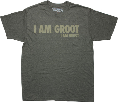 Guardians of the Galaxy I Am Groot Olive T-Shirt