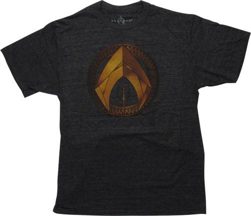 Aquaman Movie Logo Heathered Charcoal T-Shirt