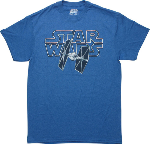 Star Wars TIE Fighter Name Heathered Blue T-Shirt