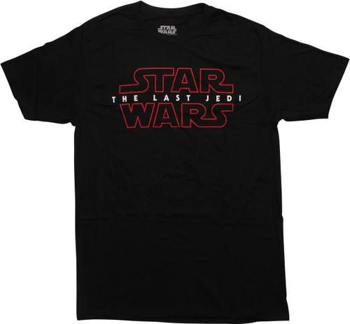 Star Wars Last Jedi Logo Tall Black T-Shirt