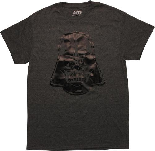 Star Wars Vader Helmet Heather Charcoal T-Shirt