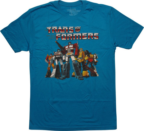 Transformers Heroic Autobots Turquoise T-Shirt