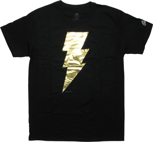 Shazam Black Adam Metallic Logo Black T-Shirt