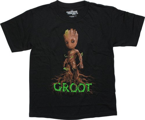 Guardians of the Galaxy Baby Groot Name Youth T-Shirt