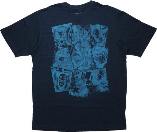 Avengers Squares Navy Blue Tall T-Shirt