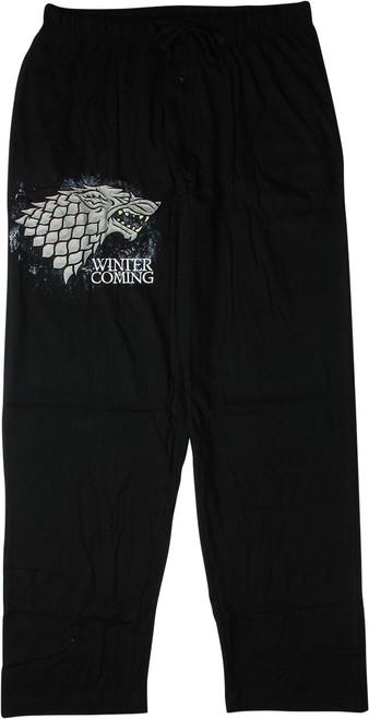 Game of Thrones Stark Winter Coming Pajama Pants