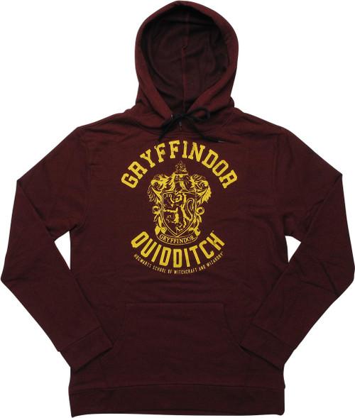 Harry Potter Gryffindor Quidditch Pullover Hoodie