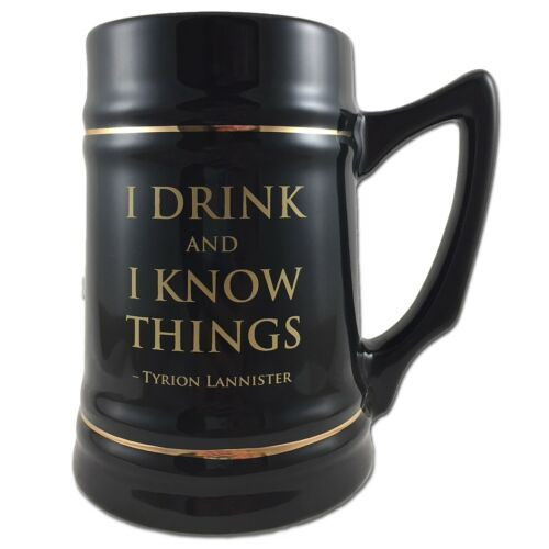 Game of Thrones I Drink and Know Things Stein Mug
