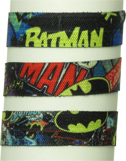 Batman and Joker Comic 3 Pack Hair Tie Set