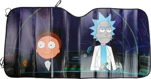 Rick and Morty Ship Accordion Car Shade