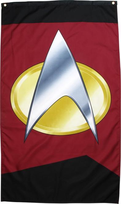 Star Trek TNG Delta Insignia Banner Flag