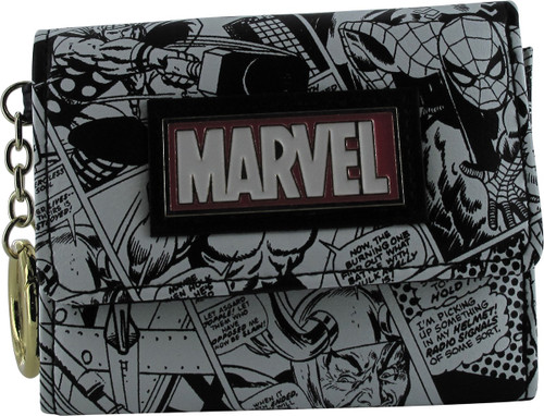 Avengers Marvel Comics Pages Tri-Fold Wallet