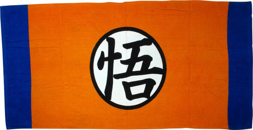 Dragon Ball Z Goku Logo Bath Towel