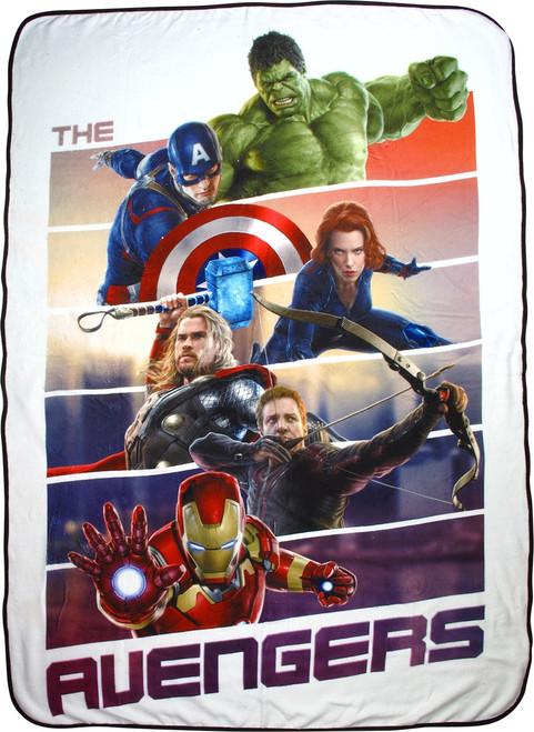 Avengers Age of Ultron Hero Panels Blanket