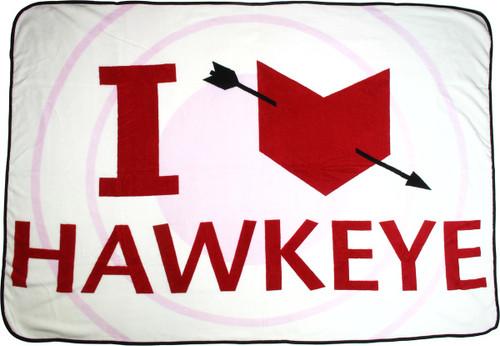 Avengers Age of Ultron I Love Hawkeye Blanket
