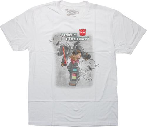 Transformers Autobot Grimlock White GTS T-Shirt