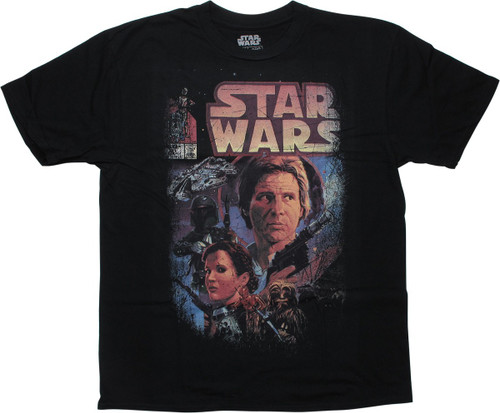 Star Wars Issue 81 Comic Cover Distressed T-Shirt