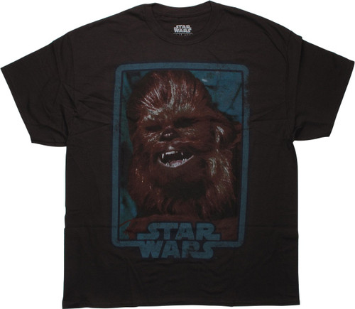 Star Wars Chewbacca Face Brown T-Shirt
