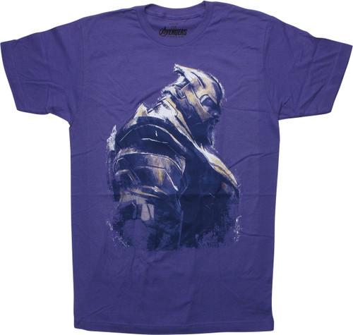 Avengers Endgame Thanos Purple T-Shirt