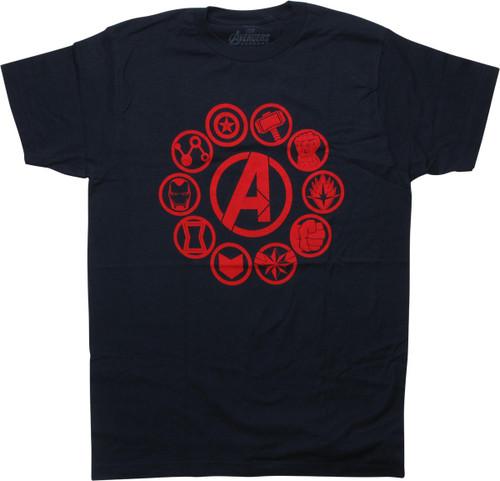 Avengers Endgame Icons Navy Blue T-Shirt