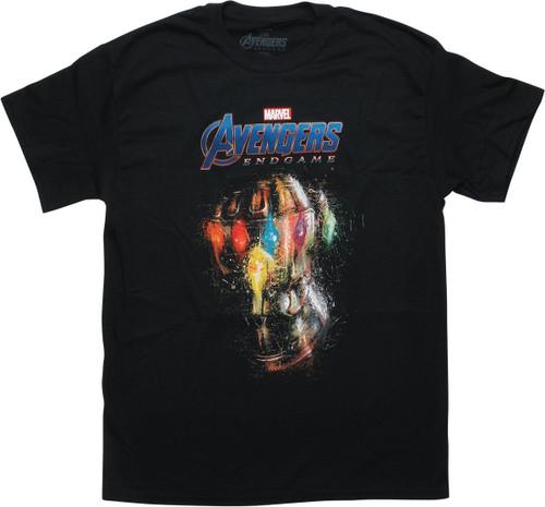 Avengers Endgame Infinity Gauntlet Black T-Shirt