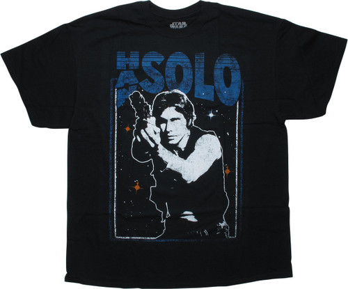 Star Wars Han Solo Distressed Solo Black T-Shirt