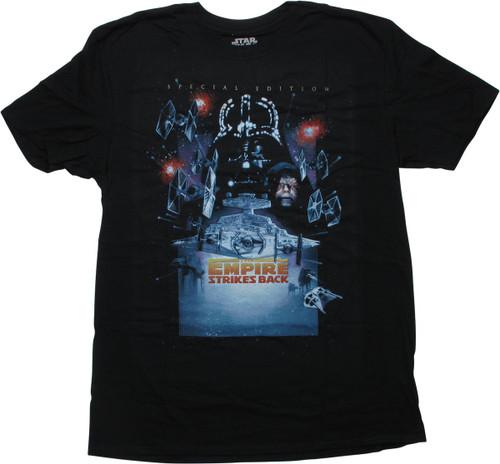 Star Wars SE Empire Strikes Back Poster T-Shirt