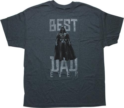 Star Wars Darth Vader Best Dad Charcoal T-Shirt