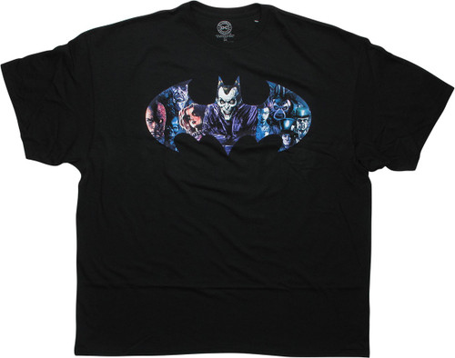 Batman Villains Logo Infestation Black T-Shirt