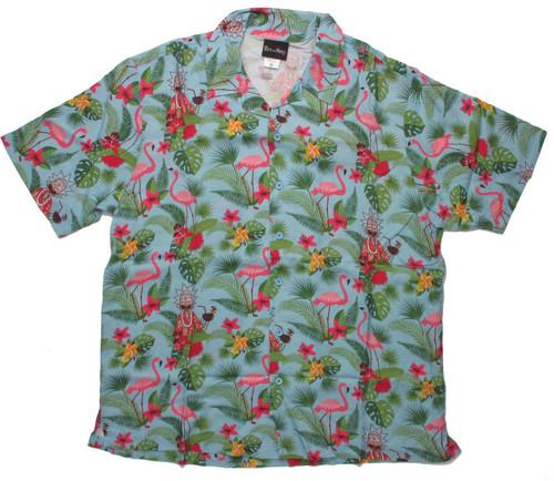 Rick and Morty Hawaiian Collage Button Shirt