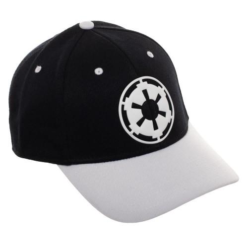 Star Wars Imperial Logo White Bill Flex Fit Hat