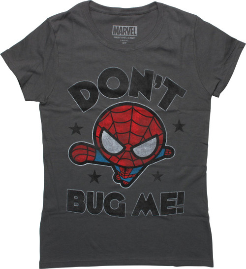 Spiderman Toy Don't Bug Me Gray Juniors T-Shirt