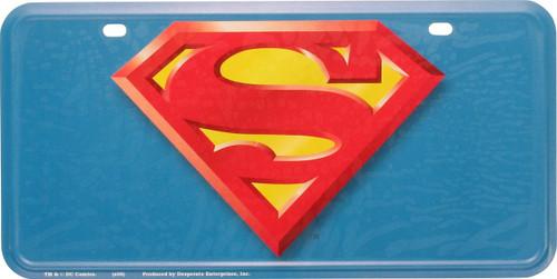 Superman Logo Metal License Plate