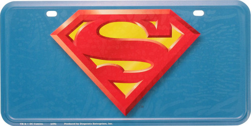 Superman Logo Metal License Plate