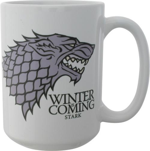 Game of Thrones Stark Winter is Coming White Mug