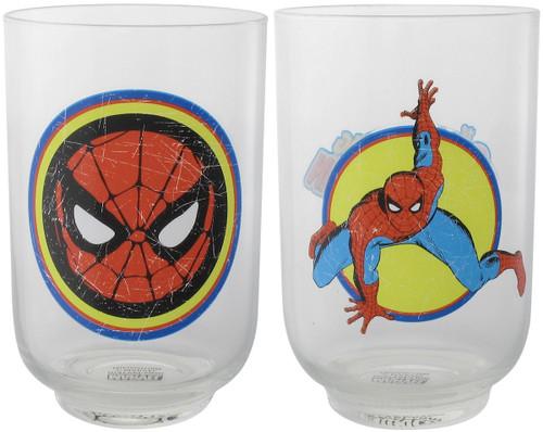 Spiderman Distressed Images Juice Glass Set