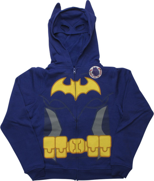 Lego Batman Batgirl Caped Costume Youth Hoodie