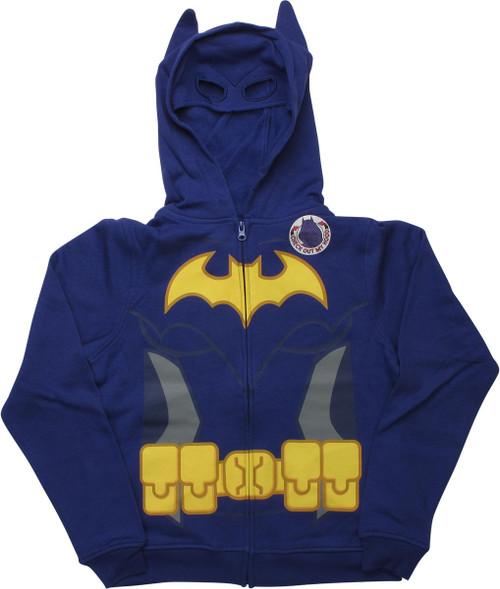 Lego Batman Batgirl Caped Costume Youth Hoodie