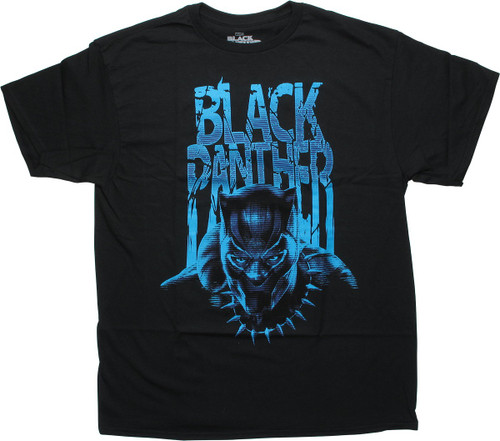 Black Panther Movie Lined Name Hero T-Shirt